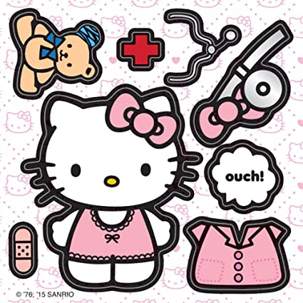 ba87b4cae Amazon.com: Make Your Own Hello Kitty Stickers - Birthday Party Supplies &  Favors - 100 per Pack: Toys & Games