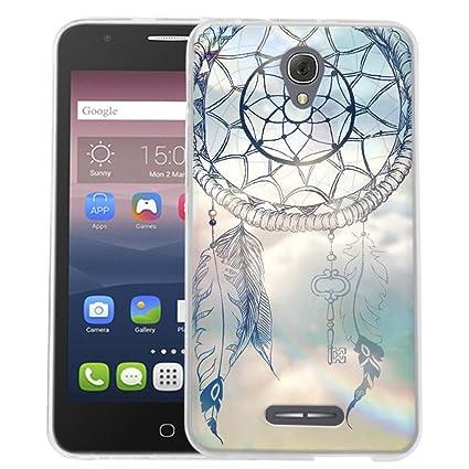 Dooki, Alcatel Pop 4 Plus Funda, Delgado Suave Silicona TPU Protectore Teléfono Caso Carcasa Para Alcatel OneTouch Pop 4 Plus 5.5 (A-01)