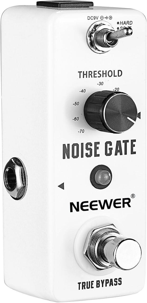 Neewer® Aluminio de aleación Matador de Ruido Guitarra Puerta de Ruidos Supresor Efecto Pedal con 2 Modelos de trabajo y Indicador LED