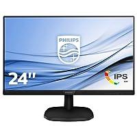 """Philips 243V7QDAB/00 - Monitor LCD IPS DE 23.8"""" con Flicker Free (resolución 1920 x 1080 Pixels, tecnología WLED, Contraste 1000:1, 5 ms, VGA, con Altavoces incorporadas), Color Negro"""