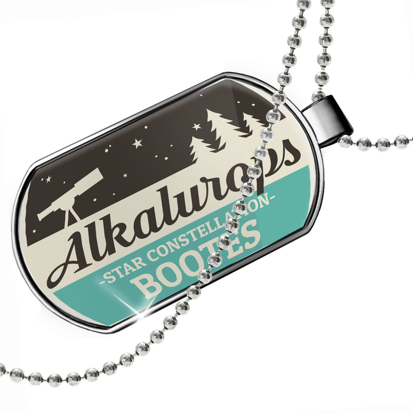 Dogtag Star Constellation Name Bootes - Alkalurops Dog tags necklace - Neonblond