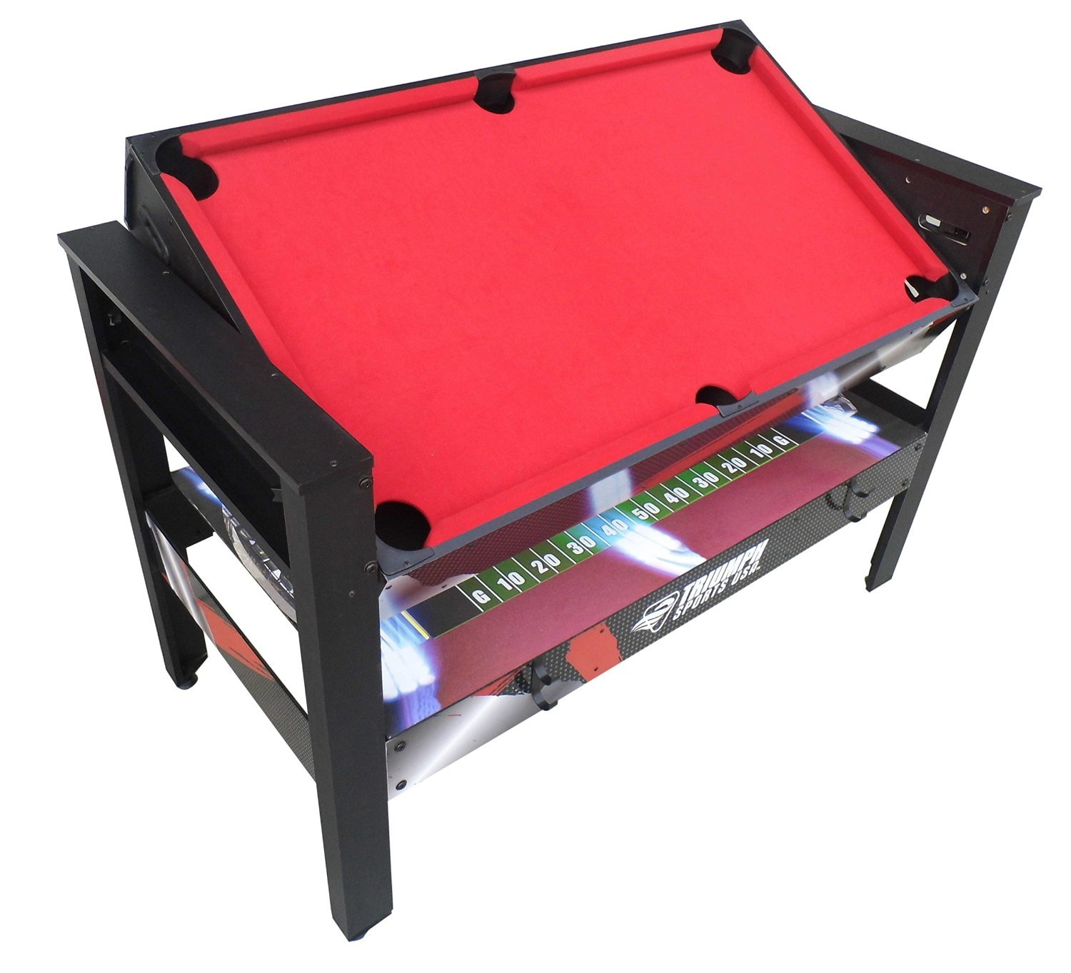 USA 4-in-1 4' Rotating Game TableMulit Action Arcade Style Play by Generic