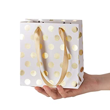 8pcs pequeñas Bolsas de Regalo con Asas de Cinta Mini Bolsa ...