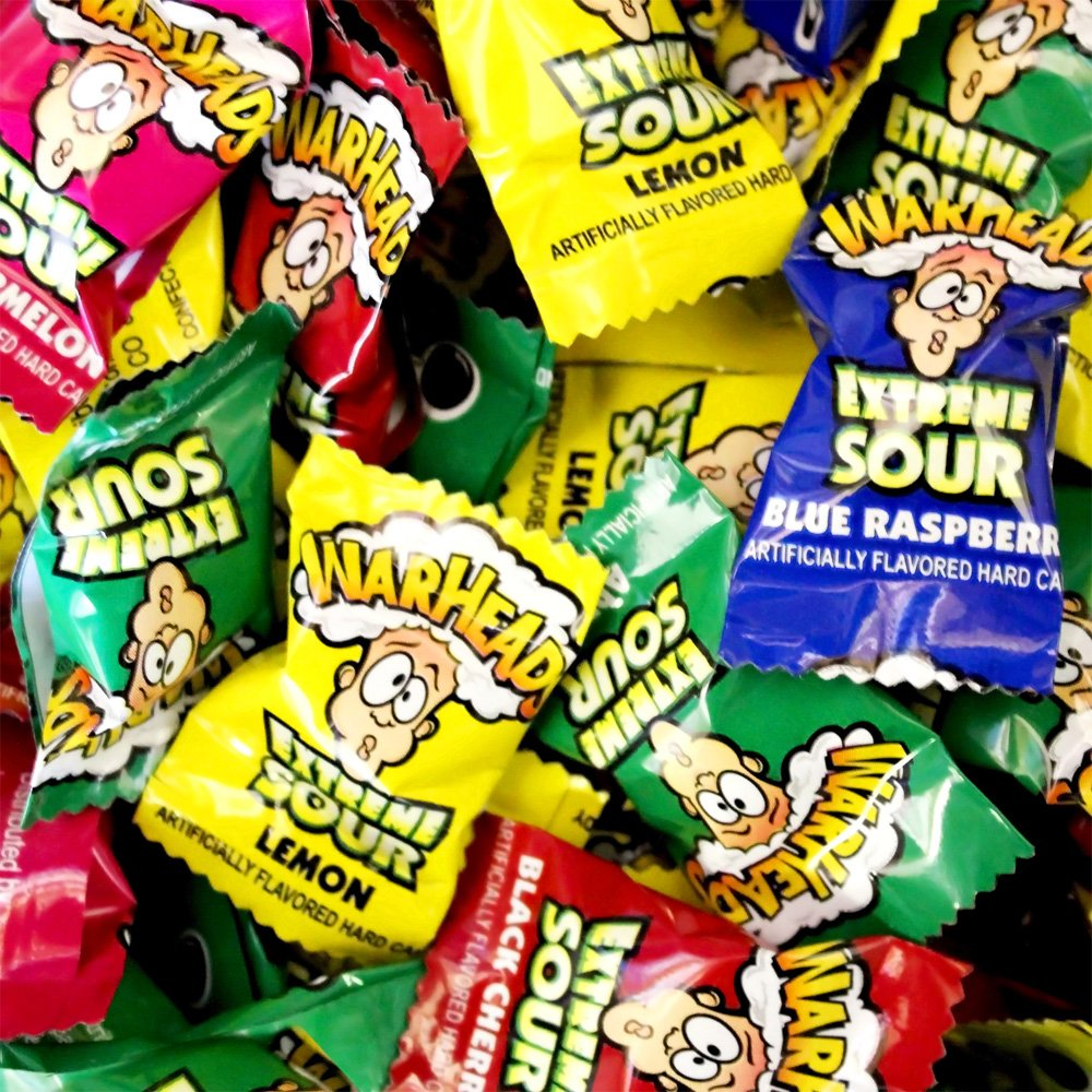 Warheads Hard Sour Candy 1lb Bag