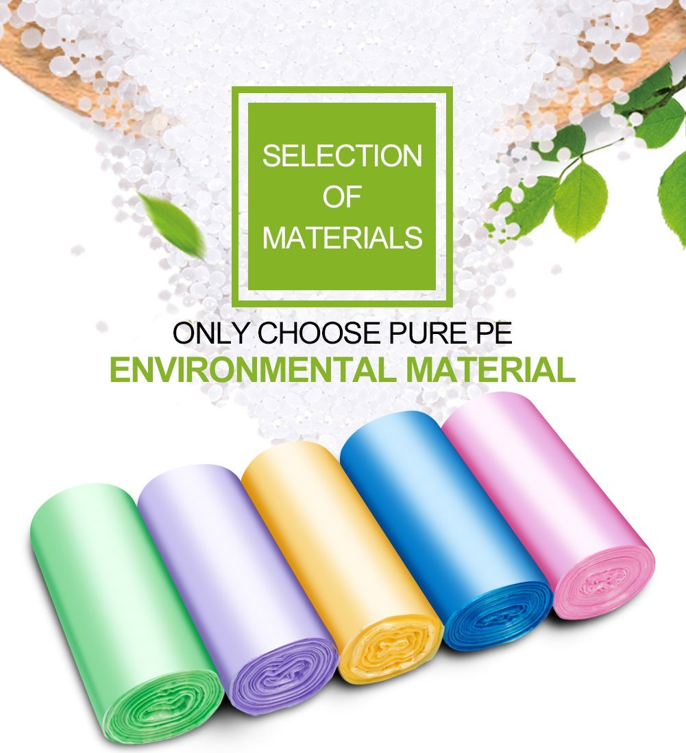 Small Trash Bags, FORID 4 Gallon Garbage Bags Thin Material Small Size 15-liters for Office, Home Waste Bin, 150 Counts 5 Color by FORID (Image #2)