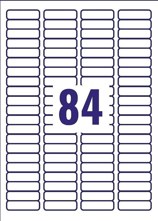 Avery L7656 25 Self Adhesive Mini Labels 84 Labels Per A4 Sheet