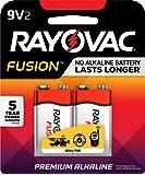 RAYOVAC 9V 2-Pack FUSION Advanced Alkaline Batteries, A1604-2TFUSJ