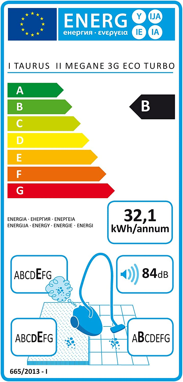 Taurus 3G Aspirador Sin Bolsa Megane 3 G Eco-Turbo, 800 W, 2 ...