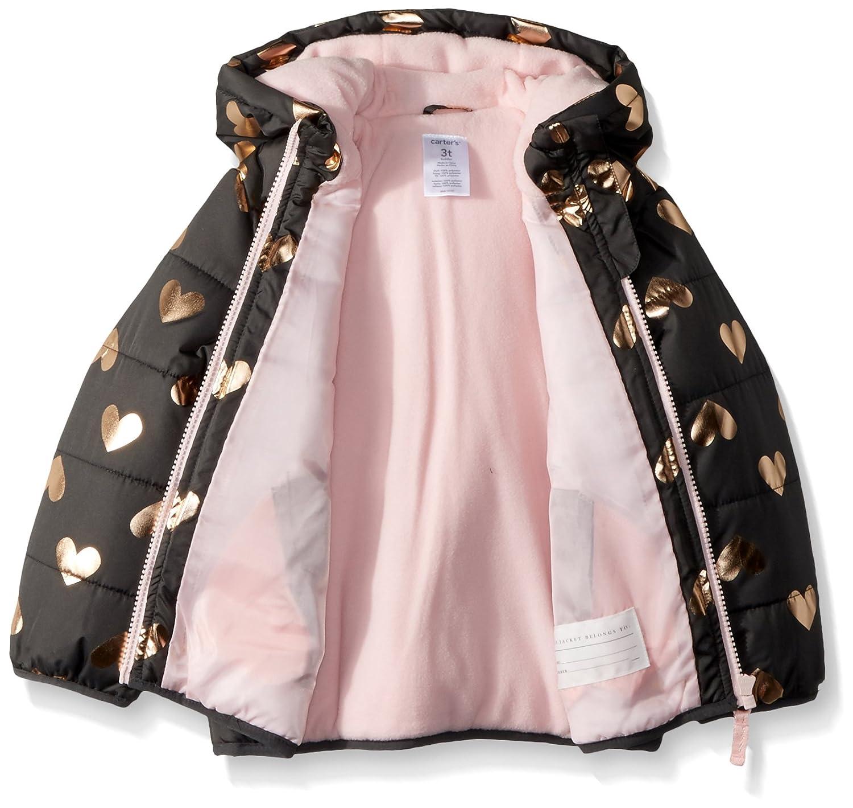 Carters Girls Fleece Lined Puffer Jacket Coat