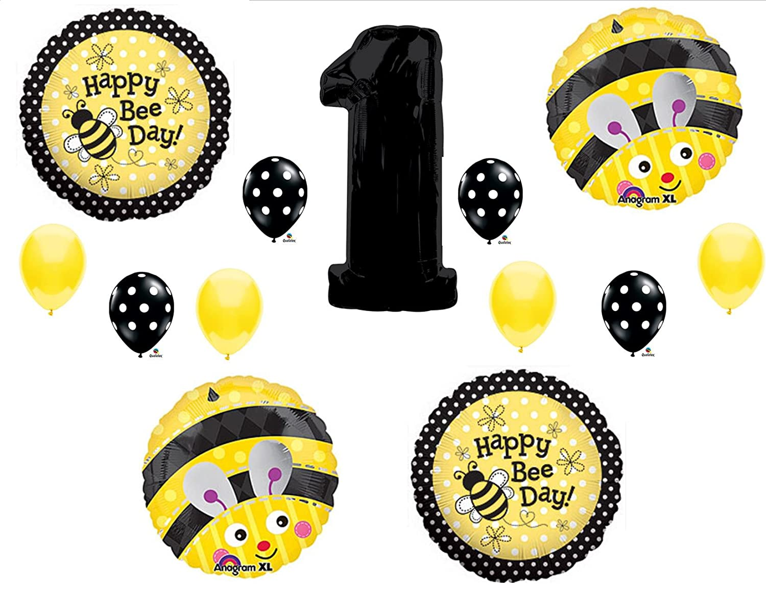 Amazon BUMBLEBEE 1st First Happy Birthday Party Balloons Decorations Supplies Toys Games
