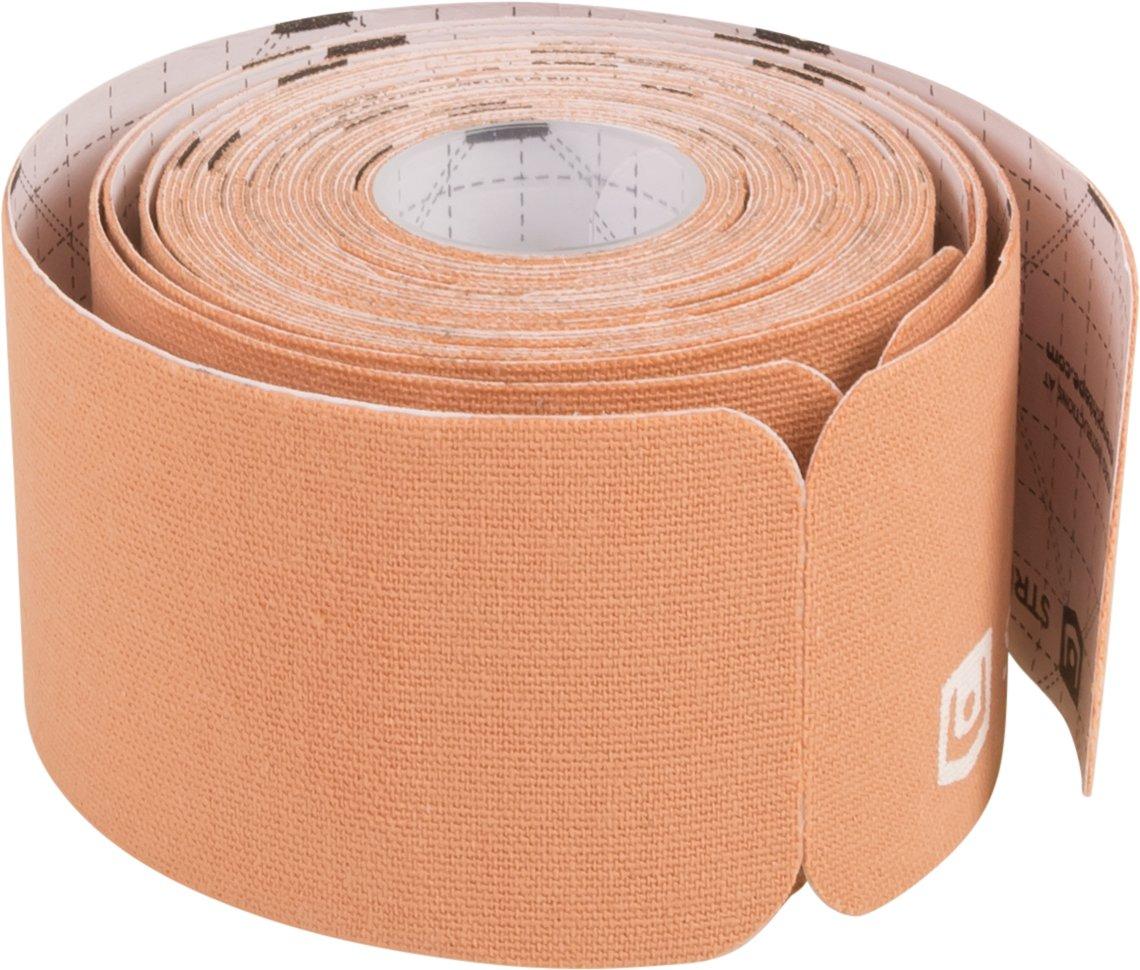 StrengthTape Kinesiology Tape - 16.4' (5m) Roll of 10'' Precut Strips - Beige