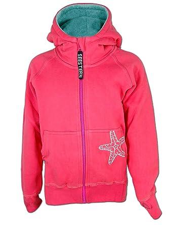 1baf787063 SEESTERN CHEN Mädchen Kapuzen Sweat Jacke Kapuzen Pullover Hoody Sweater  92-152 Rosa - Sorbet