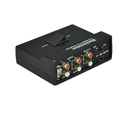 Electrovision - Preamplificador de doble entrada Phono con ecualización RIAA integrada