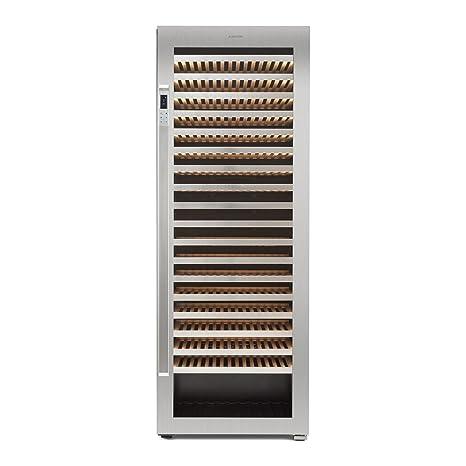 Klarstein Botella 300S - Nevera para vinos, Nevera para bebidas, Refrigerador gastronomía, 642 L, 303 Botellas, 18 Baldas, Control táctil, Pantalla ...