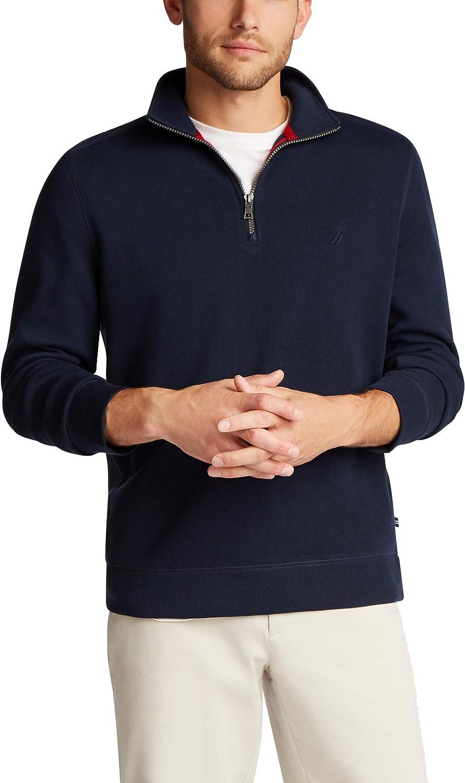Nautica Men's Classic Fit Quarter-Zip Pullover