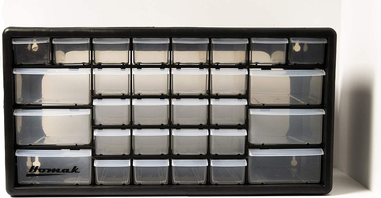 HA01024152 Black Homak 24-Drawer Parts Organizer