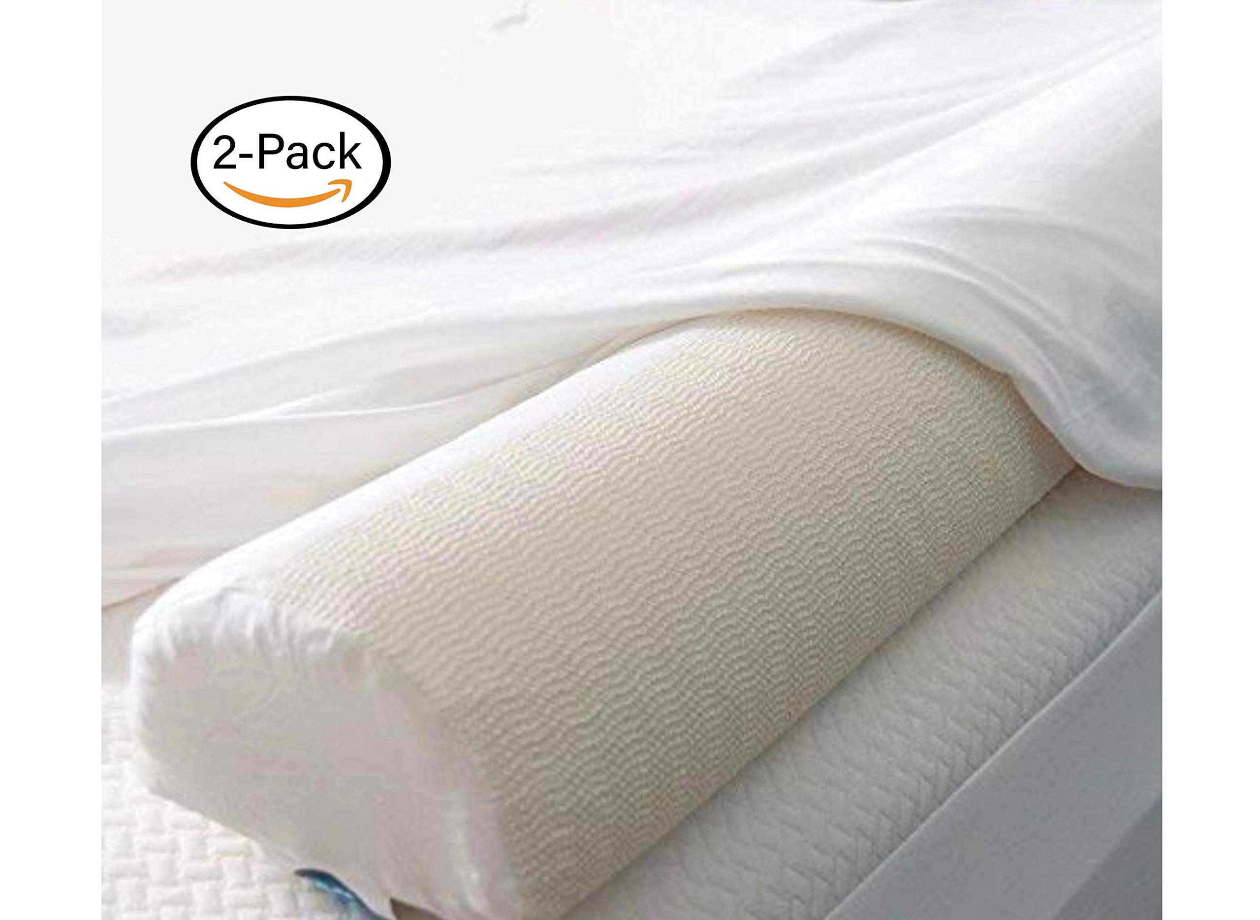PilloCush. Foam Bumper Rails for Children's Bed. Side Safety Cushion for Bed. Bed Guard Rail. Bed Pillow. Crib Bumper Pillow.[2-Pack]