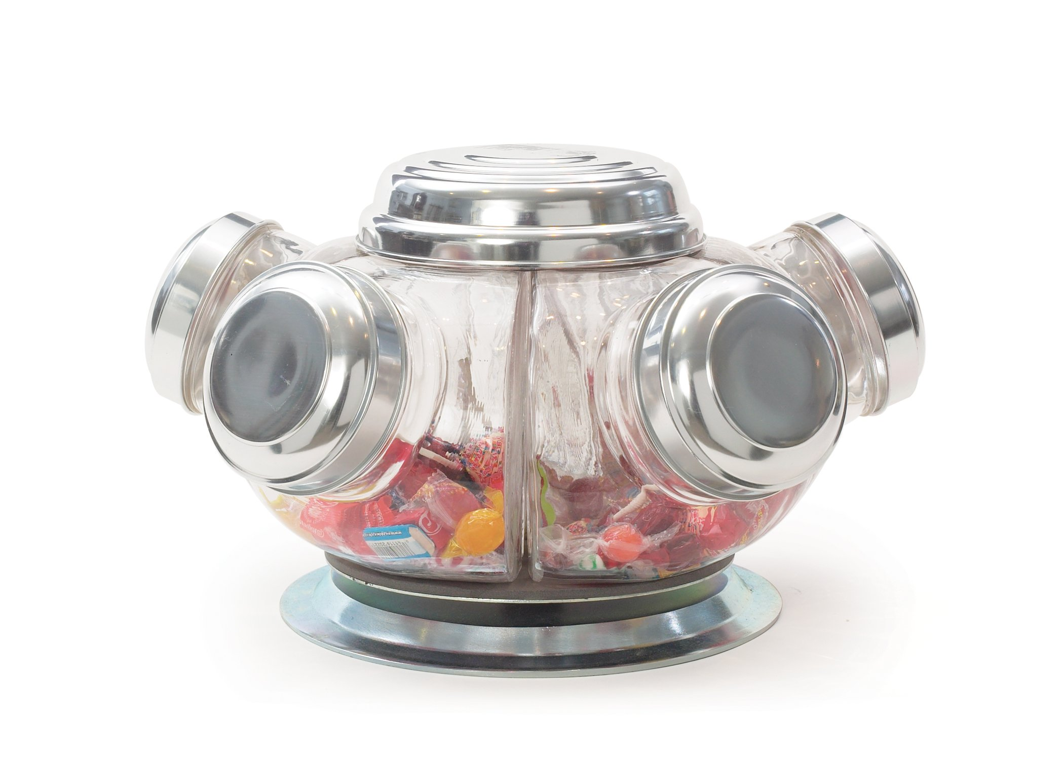 GO Home 11027 Vintage Revolving Candy Jars by Go Home