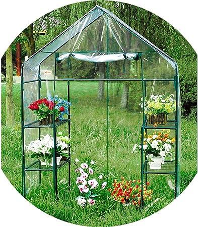 Outdoor Plastic Mini Walk In Greenhouse Garden Plants Flowers PVC Cover Small