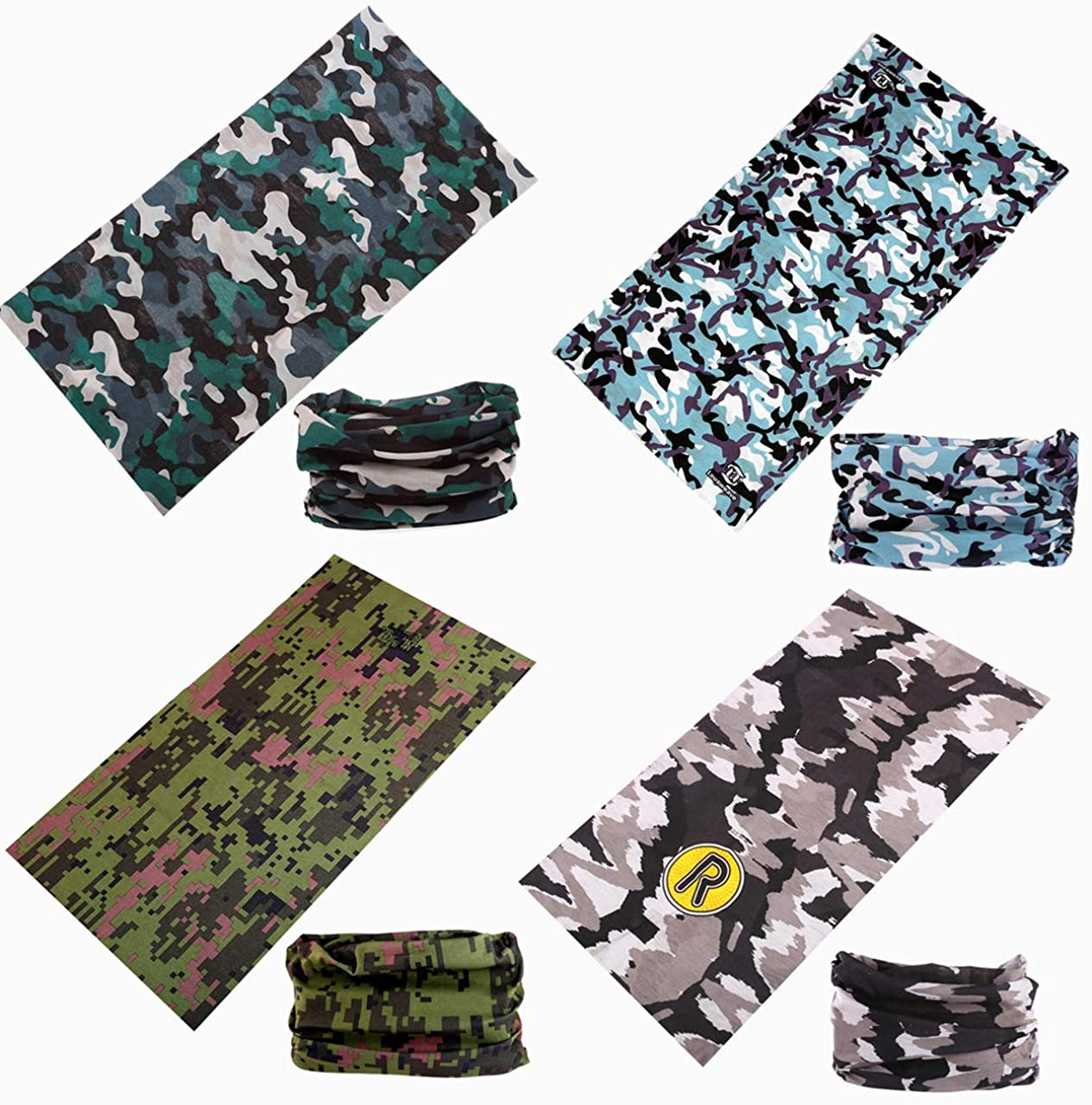 Camouflag Bandanas Protect Magic Headbands Balaclavas Neck Gaiter Dust Sun Wind