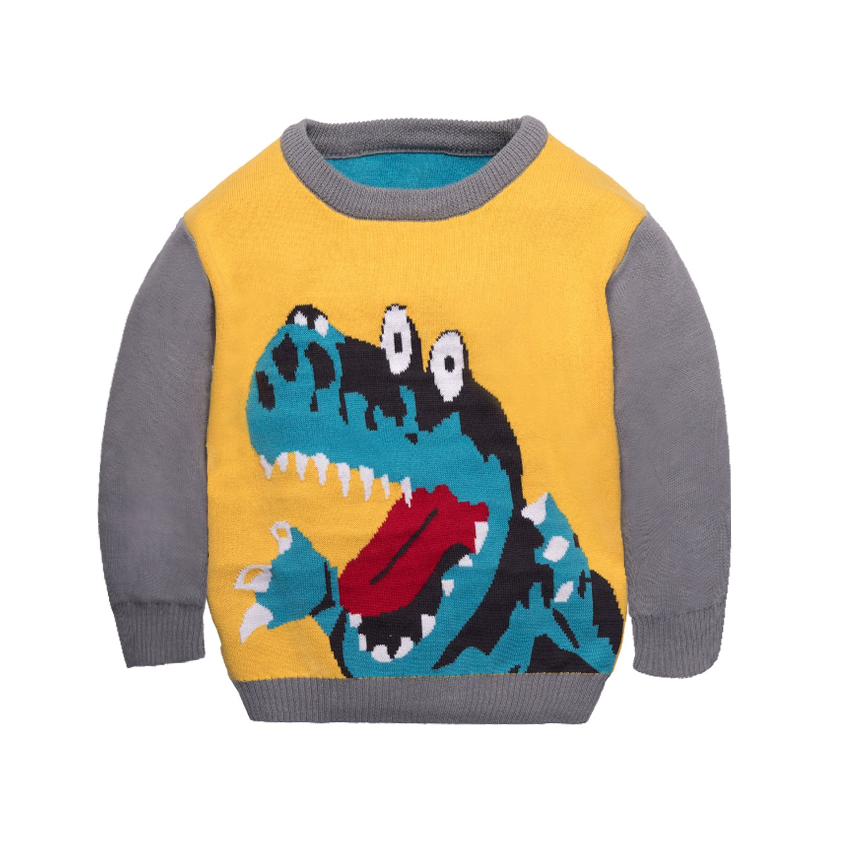 Toddler Christmas Ugly Sweater Xmas Kids Dinosaur Pullover Baby Boys Knit Sweatshirt