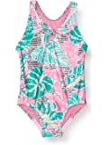 Speedo Girl's Swimsuit One Piece Thick Strap Racer Back Printed