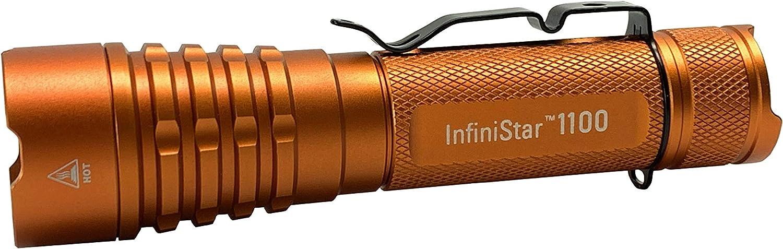 TerraLUX InfiniStar 1100 Rechargeable Flashlight - Hi-Vis Orange