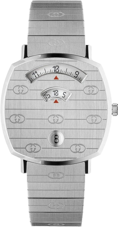 Gucci Reloj Grip 38 mm acero inoxidable GG Engraved YA157401