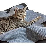 CanadianCat Company ® | Spielteppich XXL für Katzen 90 x 120 cm Katzenspielteppich in grau