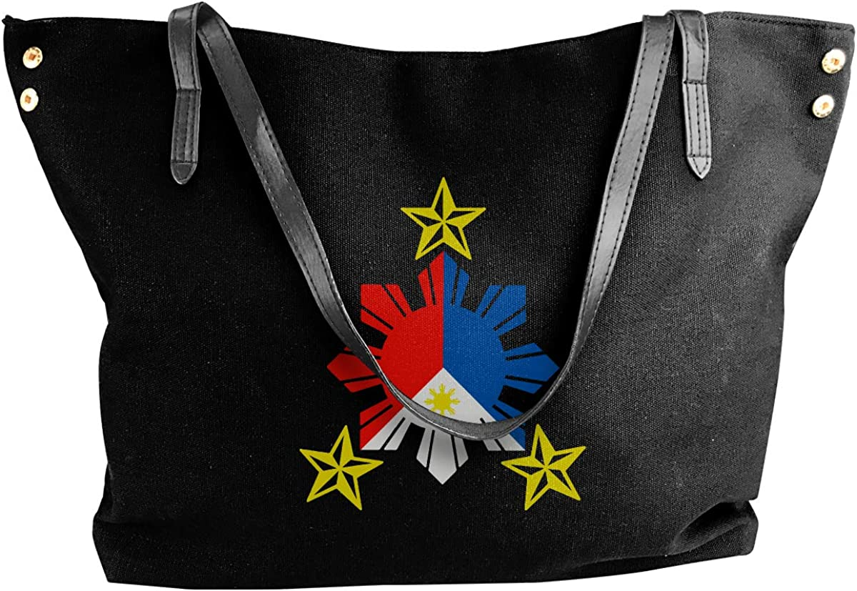 Tribal Philippines Filipino Sun And Stars Flag Womens Shopping Funny Style Shoulder Bag Handbag Bags