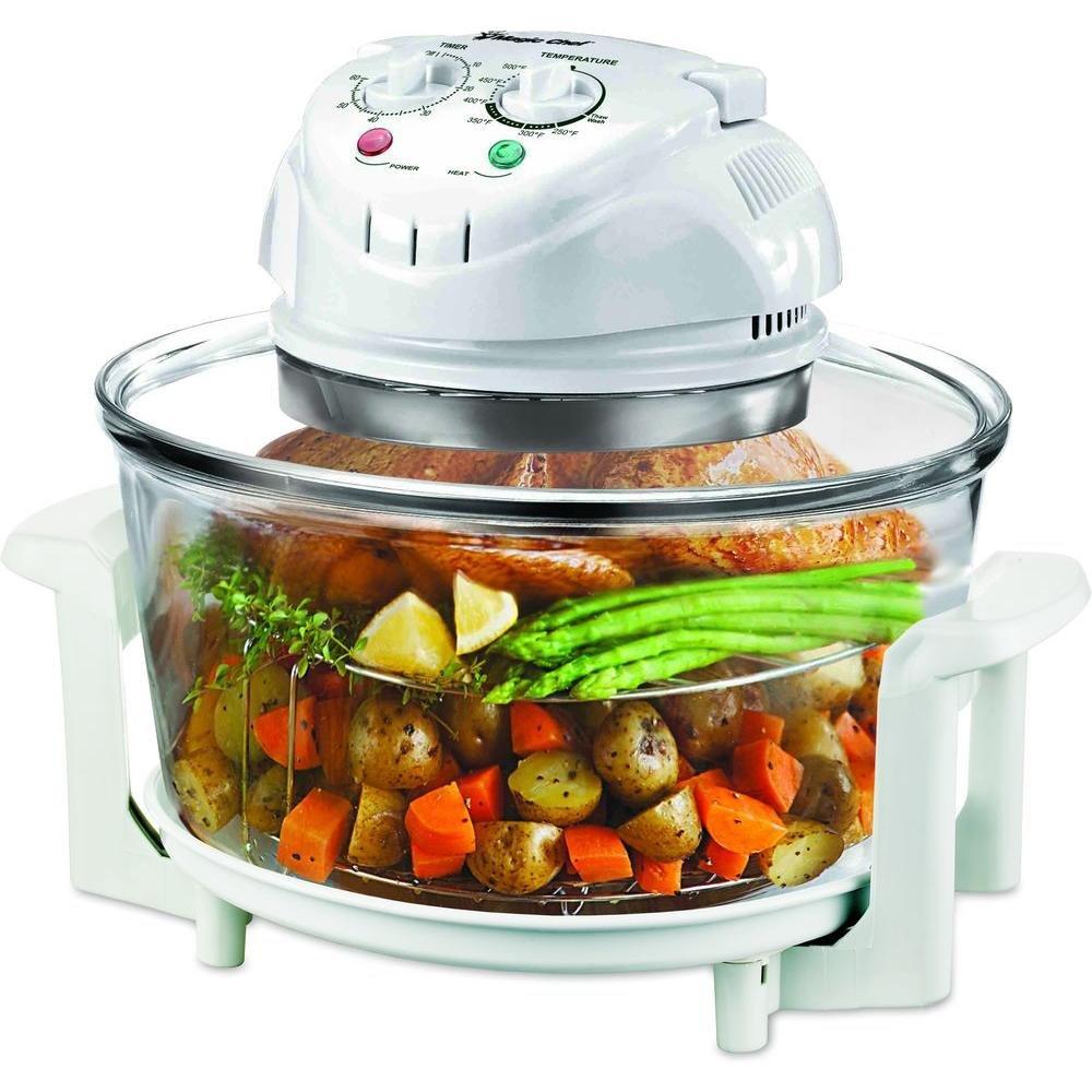 Magic Chef EWGC12W3 Glass Bowl Convection Oven, 3 gallon, White