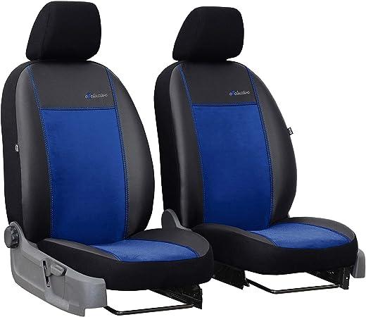 2er Set Saferide Autositzbezüge Transporter Universal Bus Sitzbezüge Kunstleder Blau Für Airbag Geeignet Für Vordersitze 1 1 Autositze Vorne Auto