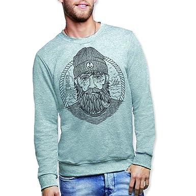 VIENTO Herren Sweatshirt Grau grau  Amazon.de  Bekleidung 82b4c95da6