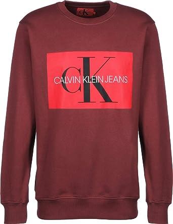 Calvin Klein Jeans Monogram Box Logo Sudadera: Amazon.es: Ropa y accesorios