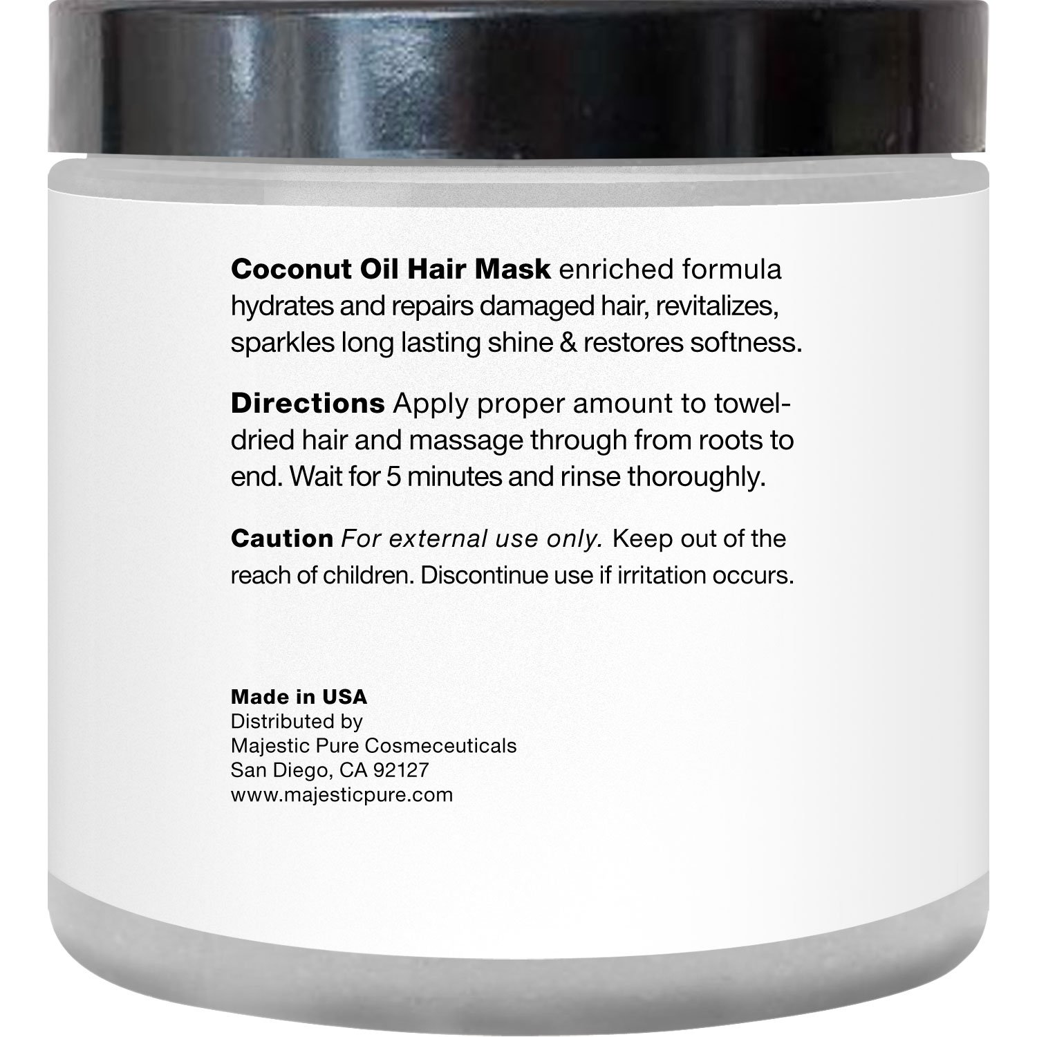Amazon Com Majestic Pure Coconut Oil Hair Mask Offers Natural Hair