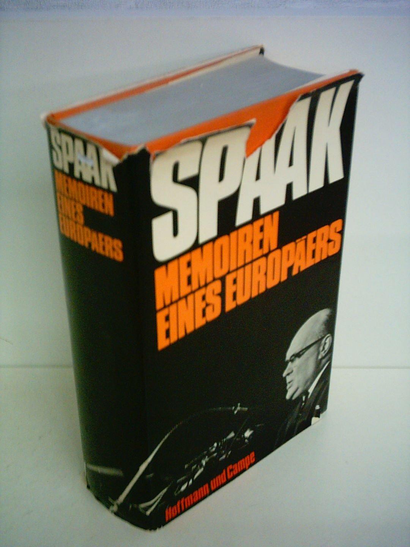 Memoiren eines Europäers. Paul-Henri Spaak  gilt als einer der Gründerväter der Europäischen Union.