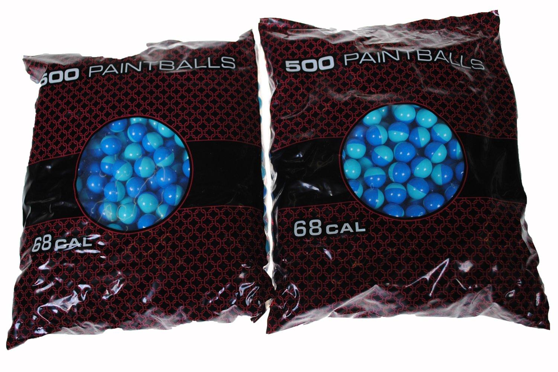 GI Sportz XBALL Certified Midnight Paintballs - Shell Varies - Aqua Fill (1,000 Count) by GI Sportz