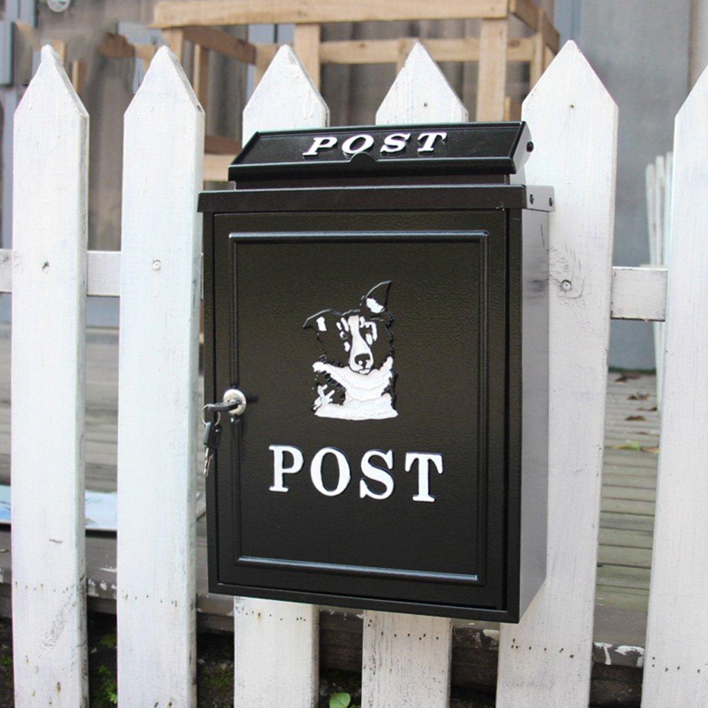 CKH ヨーロッパのヴィラ郵便受け屋外郵便ポストレインガーデンウォール防水クリエイティブシベリアンハスキーレターボックス B07CNLJPJB 18264