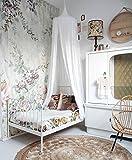 Lit Baldaquin Ciels De Lit Coton Moustiquaire De Bébé et Les Adulte Filles Princesse Jouer Tente Enfant Chambre Décoration (Blanc)