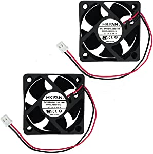 2packs 50mm x 50mm x 20mm 5020 12V 0.30A Ball Bearing Brushless DC Cooling Fan 2pin AB5020H12 UL TUV