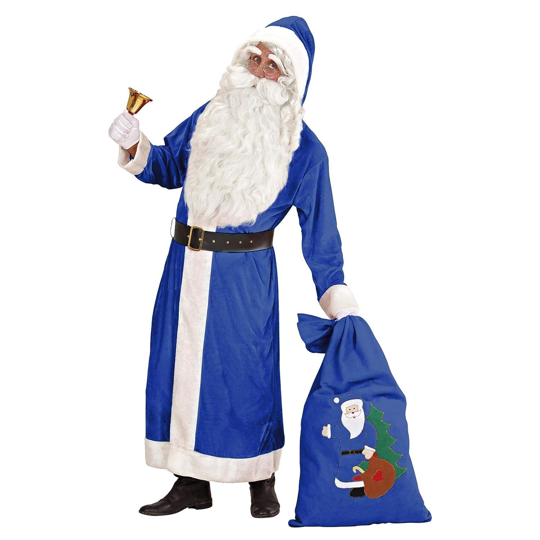 WIDMANN Disfraz de super lujo Santa Claus azul Adulto Navidad ...