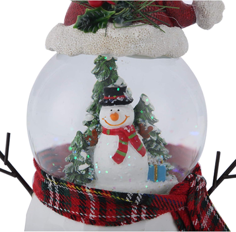 DUSVALLY Christmas Snow Globe Water Ball Decoration Music Crystal Box,Snowman