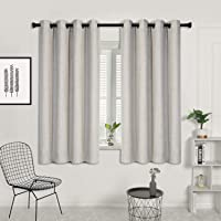 SUO AI TEXTILE 2X Blockout Eyelet Curtains 3 Layer Linen Textured Fabric 100 Blackout Room Darkening