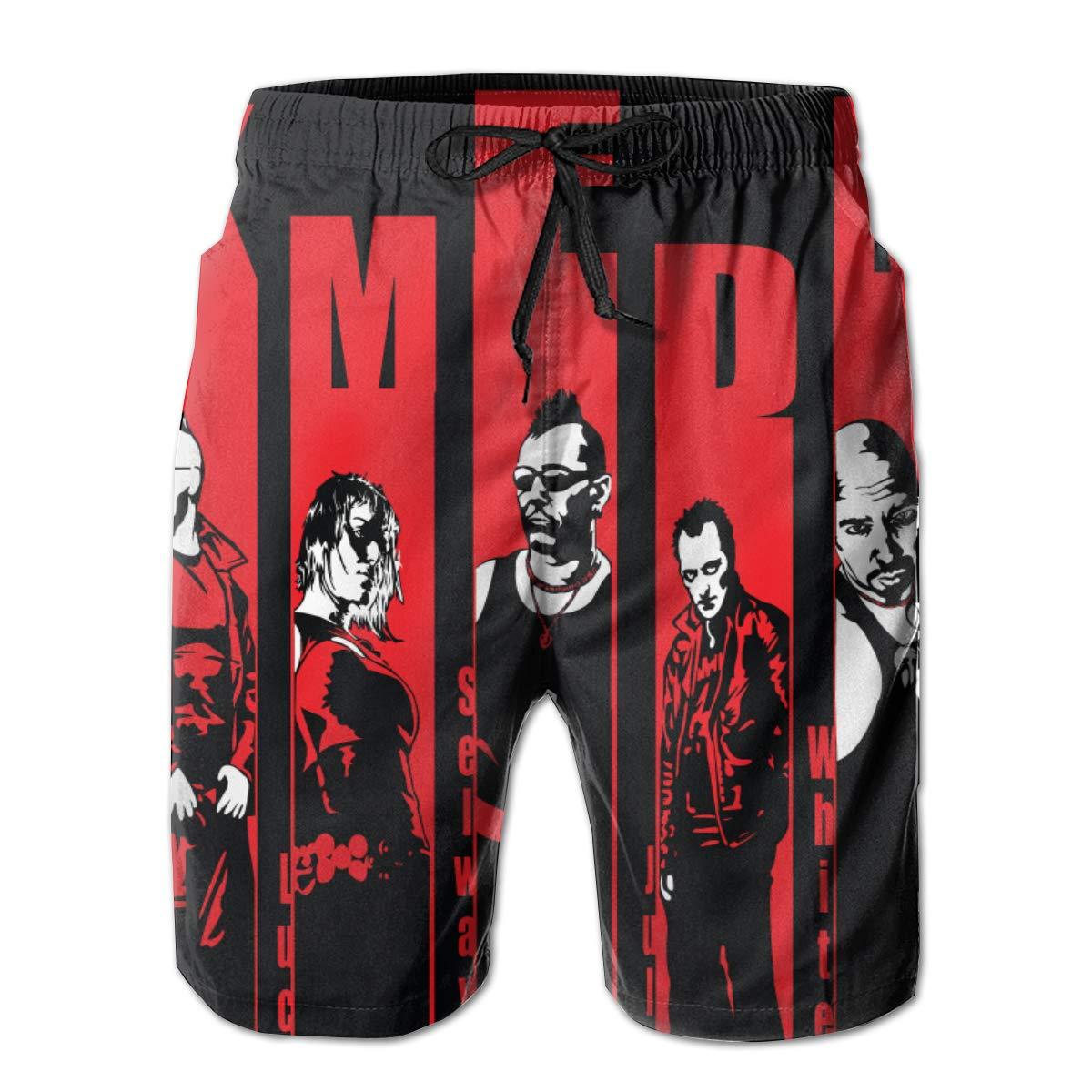 WangSiwe KMFDM Music Band 3D Printed Beach Trunks Board Shorts Casual Summer Swimwear Pants