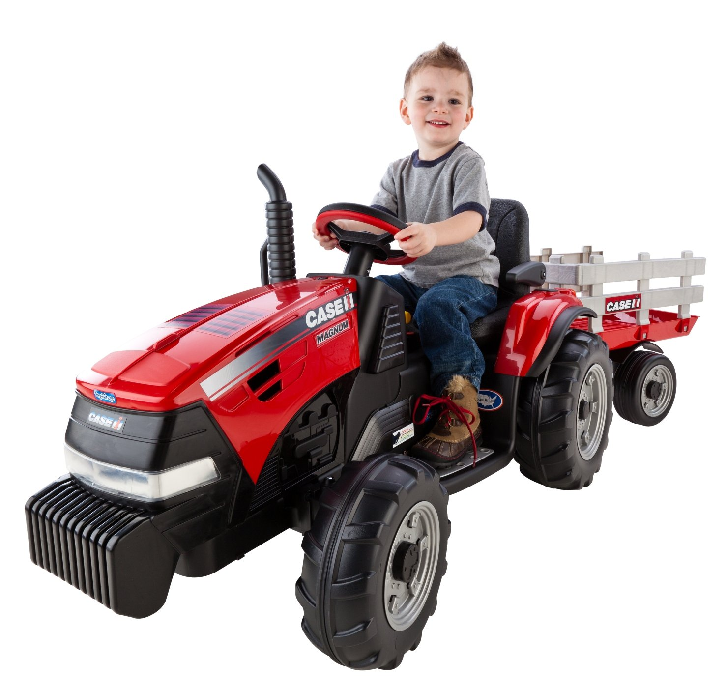 Amazon Peg Perego Case IH Magnum Tractor Trailer Toys & Games