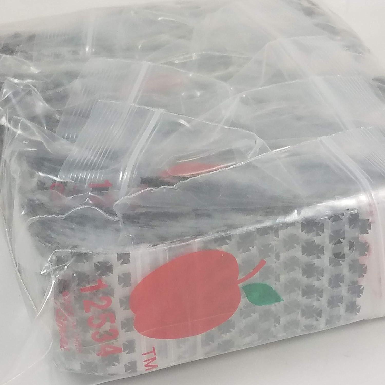 Bulk Iron Cross//Chopper 12534 Original Mini Ziplock 2.5mil Plastic Bags 1.25 x 3//4 Reclosable Baggies