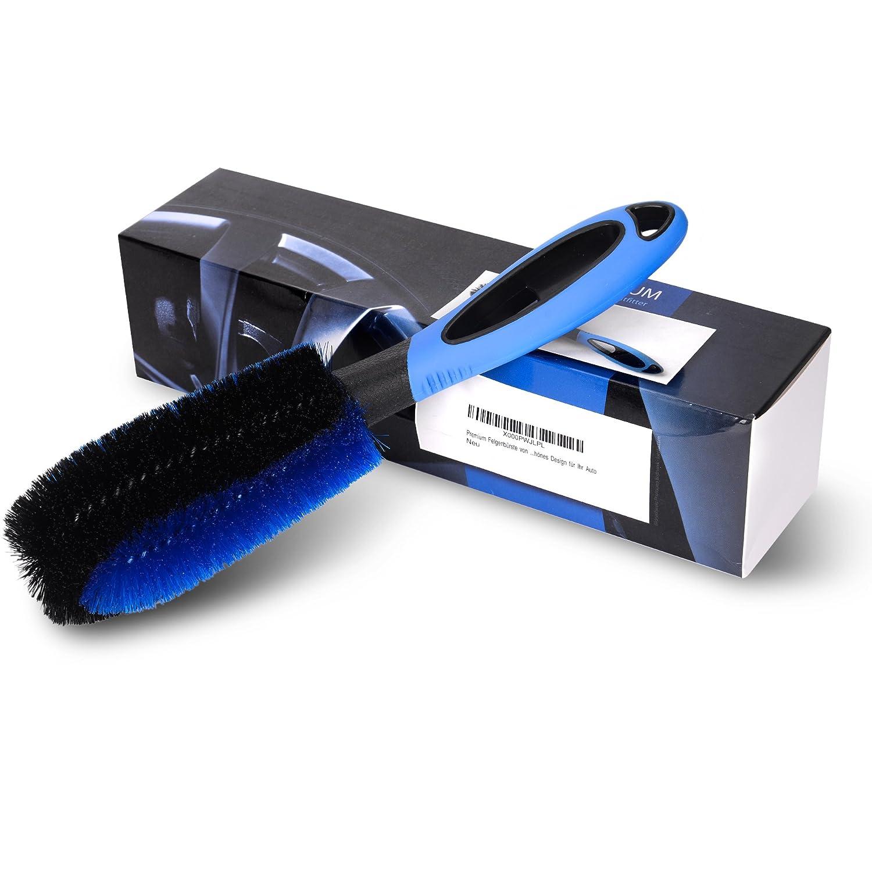 Cepillo de aro profesional para la limpieza profesional y suave de sus aros de acero y aleación - calidad superior con garantía de satisfacción – limpiador de aro para su automóvil o motocicleta Mambo One GmbH