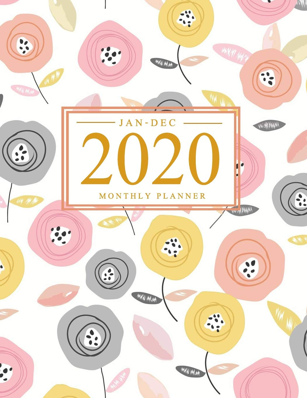 2020 Monthly Planner Jan Dec 12 Months Calendar With Holiday Watercolor Floral Cover Daily Weekly And Monthly Planner To Do List Academic Student January 2020 Through December 2020 J Rosemary 9781077733732 Amazon Com Books