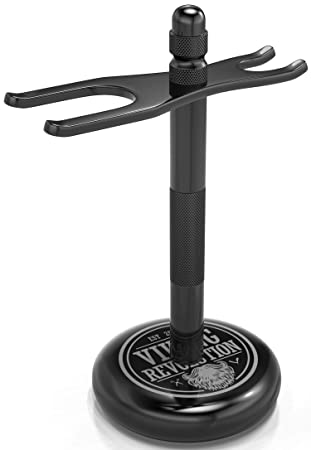 Amazon Com Black Safety Razor Stand Razor Holder And Shaving Brush Stand To Prolong The Life Of Your Razor Weighted Bottom For Extra Stability Beauty