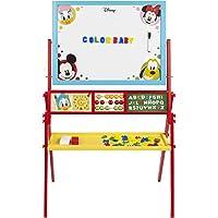 WOOMAX - 2 en 1 Pizarra infantil para niños niñas - Pizarra blanca magnetica infantil con Abaco, Reloj aprender las…